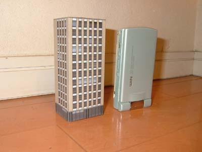 1/450 建物ペーパークラフト 12階建てオフィスビル