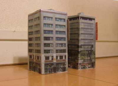 1/450Tゲージ鉄道模型用建物ペーパークラフト